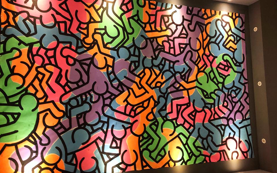 [워드프레스 구축업체 메타브레인] 키스해링전 전시 색감